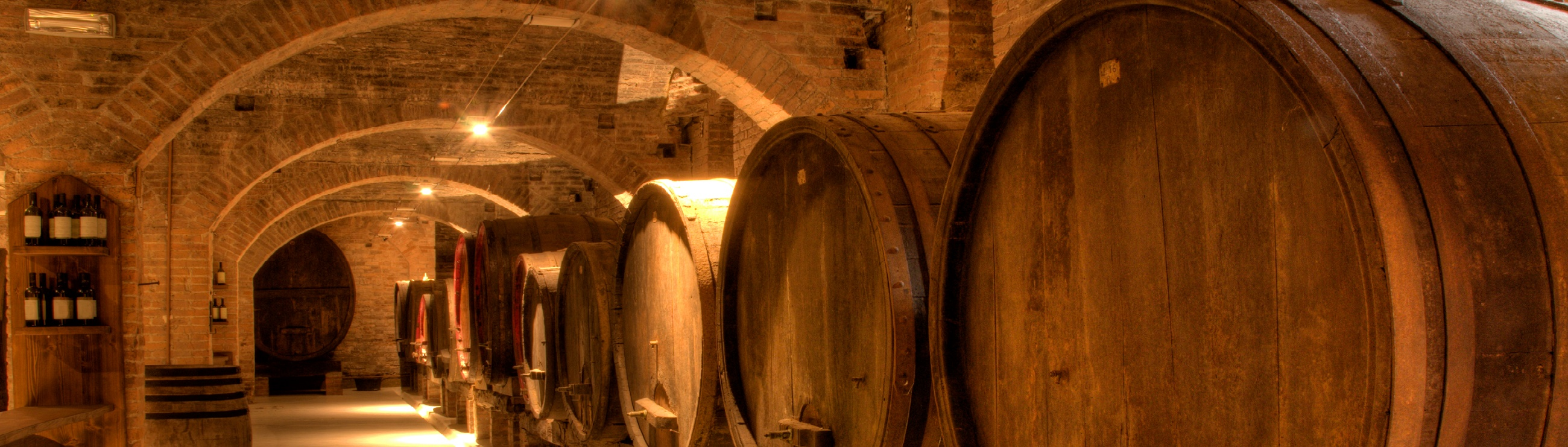 Wine cellar in ancient building in Tuscany, Italy